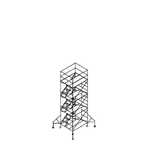 ローリングタワー内階段 3段セット