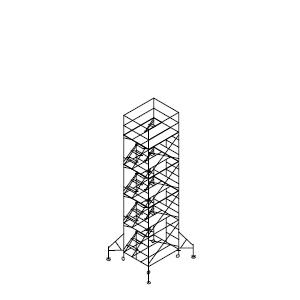 ローリングタワー内階段 4段セット