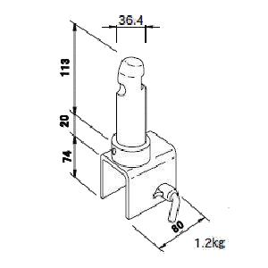 建枠減幅金具BU−205