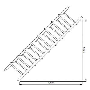 階段枠アルミSTA3055S