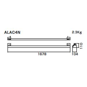 朝顔隅万能板押え 上  ALAC4N