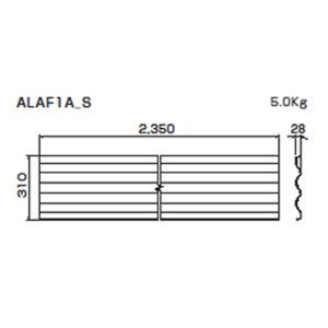 朝顔FRP製万能板  ALAF1A_S