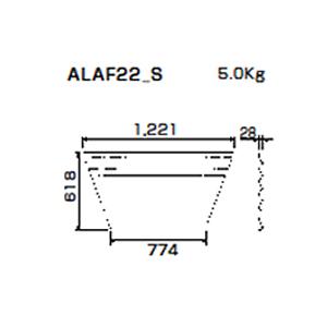 朝顔隅FRP製万能板  ALAF22_S