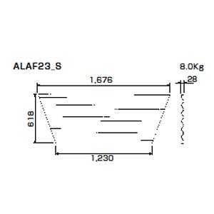 朝顔隅FRP製万能板  ALAF23_S