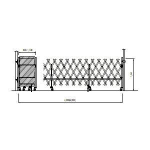 NKキャスターゲート左4.0x1.35