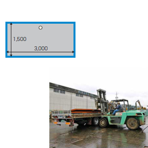 敷鉄板 25x5x10