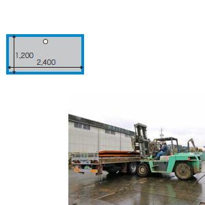 敷鉄板 25x4x8