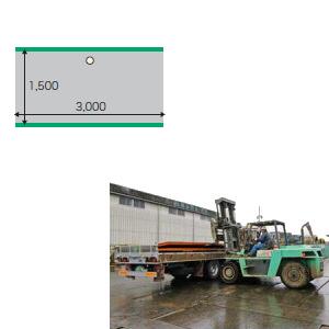 敷鉄板 縞板 22x5x10