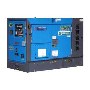 発電機25KVA極超低騒音3電 防油堤付