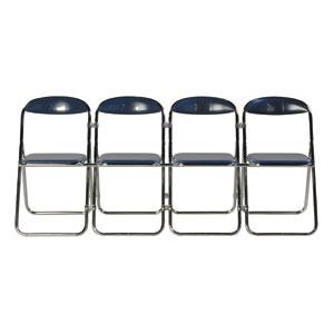 折りたたみ椅子4連