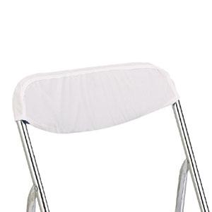 折りたたみ椅子カバー 背もたれ 白