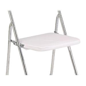 折りたたみ椅子カバー 座面 白