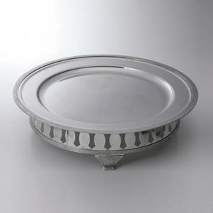皿丸型飾台付金属製 20吋