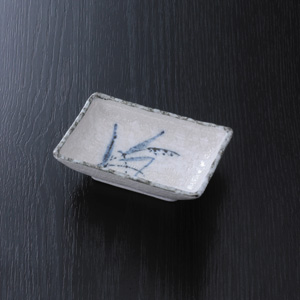 刺身受皿 角型陶器製