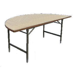 テーブル丸型半割180無地
