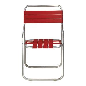 ガーデン椅子 パイプ製 赤