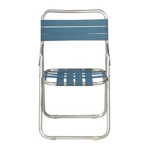 ガーデン椅子 パイプ製 青
