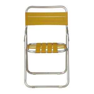 ガーデン椅子 パイプ製 黄