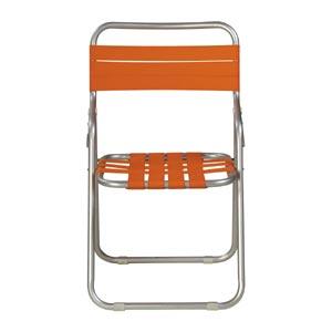 ガーデン椅子 パイプ製 橙