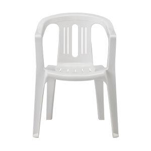 ガーデン椅子プラ製 白 PS400