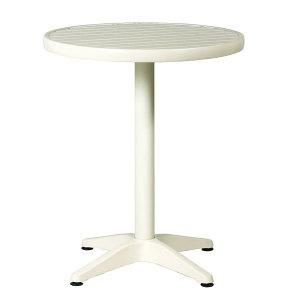 ガーデンテーブルアルミ60径 白