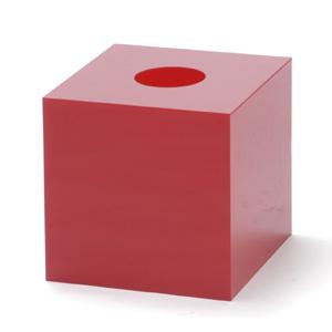 抽選箱40・40・40 アクリル製 赤