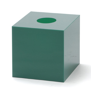 抽選箱40・40・40 アクリル製 緑