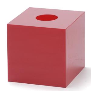 抽選箱45・45・45 アクリル製 赤