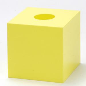 抽選箱45・45・45 アクリル製 黄