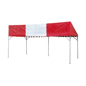 テント片流P1.5X3 赤白