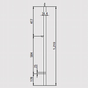 イントレ手摺柱A25