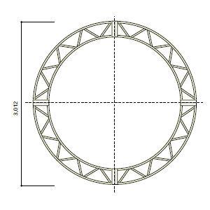 ステージシステム円トラス直径3m 4分割