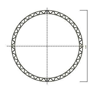 ステージシステム円トラス直径6m 4分割