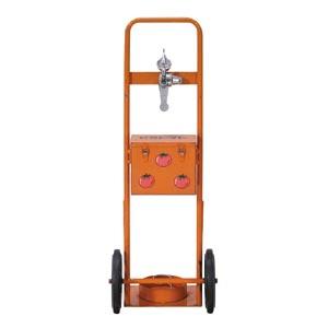 ヘリウムボンベ用台車