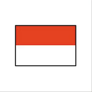 卓上国旗 インドネシア
