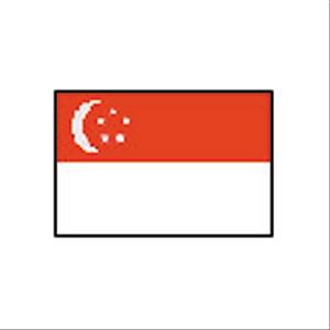 卓上国旗 シンガポール