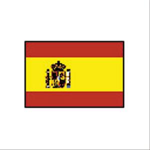 卓上国旗 スペイン[紋章有]