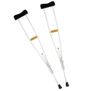 歩行補助杖 アルミ松葉杖 中