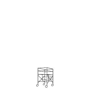 ローリングタワー 1段セット