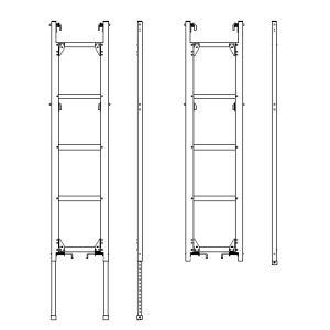 タラップボード用伸縮梯子