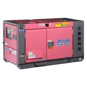 発電機 25KVA極超低騒音 ディーゼル2電