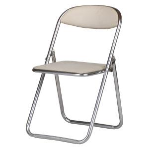 折りたたみ椅子 白色