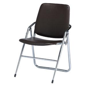折りたたみ椅子CF−M28 レザー茶色