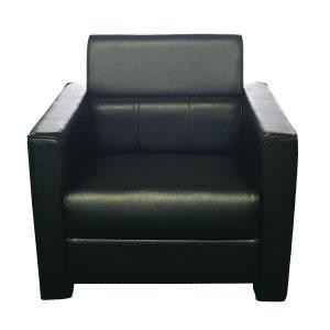 応接アーム付椅子 YOS−10 レザー黒