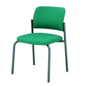 会議用椅子CK−100F4 J724布緑