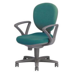 回転椅子両肘付イニシオ11SA34 布緑