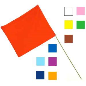 応援旗 竿付 紫