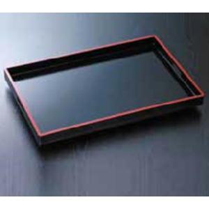 盆 角型 木製 黒塗