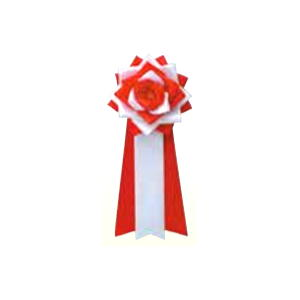 リボンバラ胸用 紅白12(販売)